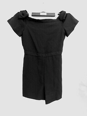 RIVER ISLAND Girls Age 11 years Gorgeous Black Bardot Party Playsuit