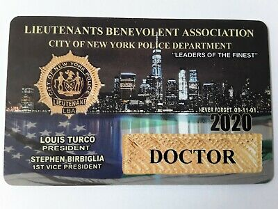 !   Authentic 2020  Lieutenants Lba Pba Doctor Card  Not Cea Sba Dea Card