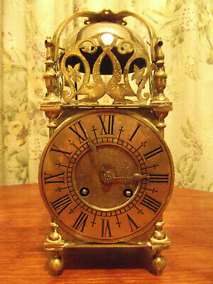 Antique brass Lantern clock to restore. japy freres movement