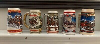 Budweiser Cyldesdale Collector Steins -Set of 5
