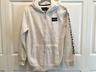 NWT Calvin Klein Jeans Boys Full Zip Hoodie Medium M 10 12 NEW Jacket Oatmeal