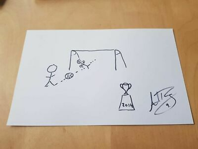 Signed Adam Rooney League Cup Final Winning Doodle Aberdeen Charity Auction