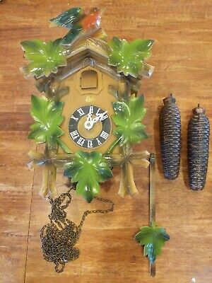 Schatz 8 Day German Cuckoo Clock For Parts or Repair Made In Germany