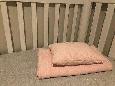 Adairs Cot Quilt Cover Set- pink marle