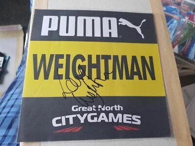 Signed Laura Weightman Promotional Race Bib City Games Charity Auction Silver