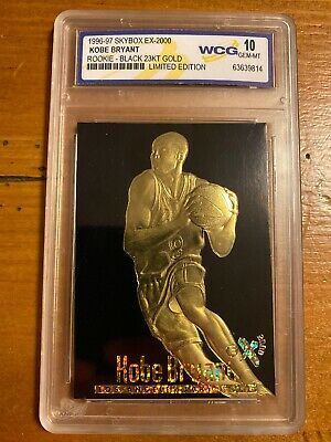 **RARE** Graded Gem-Mint 10 KOBE BRYANT 1996 Skybox 23K Black Gold ROOKIE Card