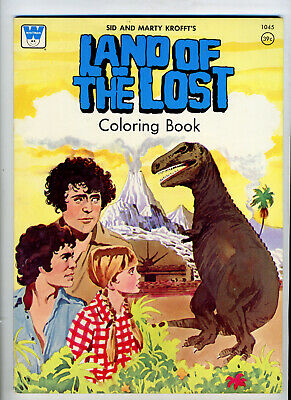 Land of the Lost Coloring Book Sid and Marty Krofft Vintage 1970s Near Mint