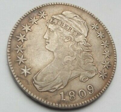 Rare 1809 XXX Edge Capped Bust Half Dollar XF EF NR!! See other auctions!!