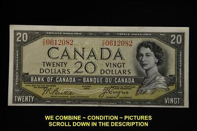 1954 Bank Of Canada Devil's Face 20 Dollars Bank Note Beattie