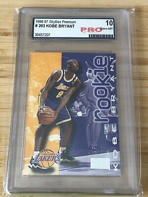 1996-97 Skybox Premium # 203 KOBE BRYANT Rookie Card Graded GEM MINT 10 Perfect