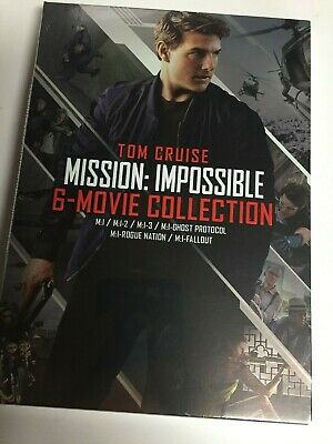 Mission Impossible 1,2,3,Ghost Protocol,Rogue Nation&Fallout (DVD,2018,6-Disc Se
