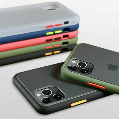 For iPhone 11 Pro Max XS Max XR 7 8 Plus 6S Shockproof Matte Silicone Case Cover