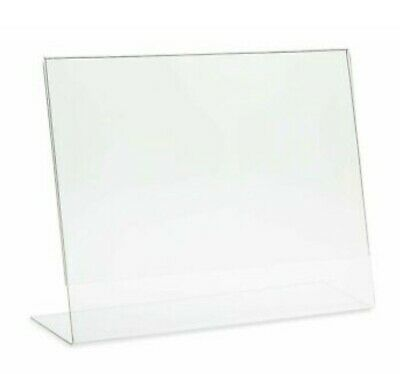 source one 10 pack Acrylic 11 X 8.5 Slanted Sign Holders Office Products