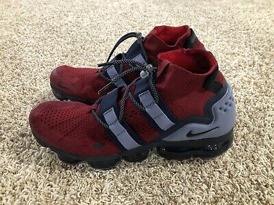 Nike Air VaporMax Flyknit Utility Team Red/Obsidian AH6834-600 Men's Size 10.5