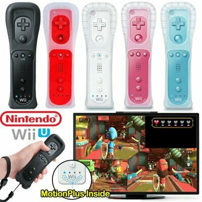 For Nintendo Wii Wiimote Built in Motion Plus Inside Remote Controller w/Case U~