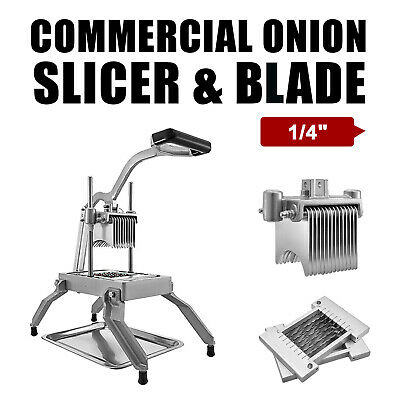 "Commercial Onion Slicer Vegetable Cutter Fruit Dicer With 2 Sets 1/4"" Blades"