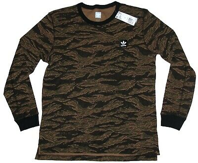 Adidas Originals Camouflage Thermal T-Shirt All Over Print Long Sleeve Sz L NWT
