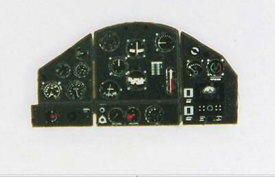 PHOTOETCHED FOKKER D XXI COLORED INSTRUMENT PANEL#7231 1//72 YAHU FINNISH LATE