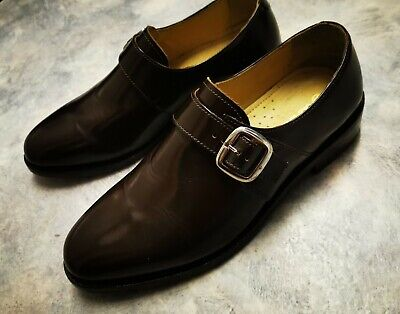 Samual Windsor  Mens Very Dark Brown Leather  Buckle Shoes Size 6.5 Worn once