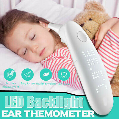LCD Digital IR Infrared Forehead Ear Thermometer Baby Adult Temperature Meters