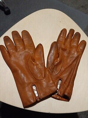 Ladies Leather Gloves  Size  7  1/2    Viscose And Wool Lining    Made In...