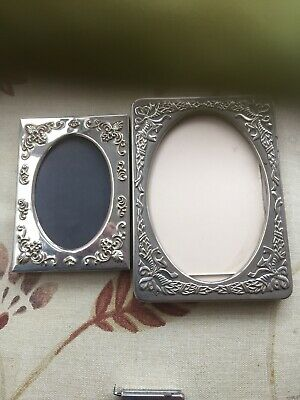 Two Vintage Silver Plate Picture Frames