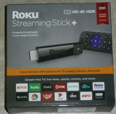.Roku Streaming Stick Plus 3810R - 4K Streaming Media Player with Voice Remote