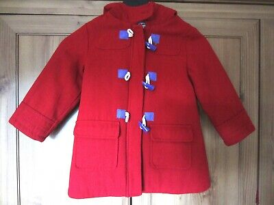 Red Marks and Spencer coat Indigo Collection LITTLE GIRL 2-3 years RIding Hood