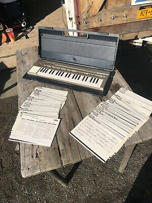 Vtg Yamaha PortaSound PC-100 Electronic Piano Keyboard Case Mint Synthesizer