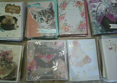 40 Top Mothers Day Cards, Wholesale Joblot Greeting Cards
