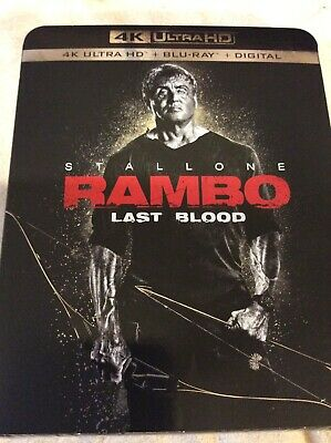 RAMBO: LAST BLOOD 4K Ultra HD + Blu-ray + Digital - Brand New