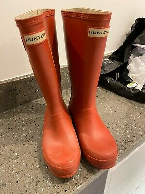 Hunter Wellies Red Boys Size 1