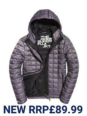 NEW XL SIZE Mens Rrp£89.99 Superdry Box Quilt Fuji Hooded