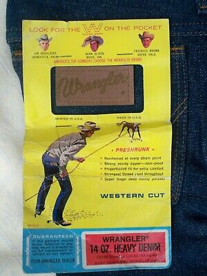 70s Vintage Wrangler Flared  Western Cut Childs Jeans BNWT