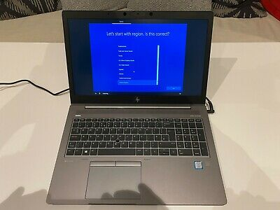 HP Zbook 15 G6 i7 8th Gen 16gb DDR4 RAM Laptop AMD WX3200 Win10 Pro 512gb SSD