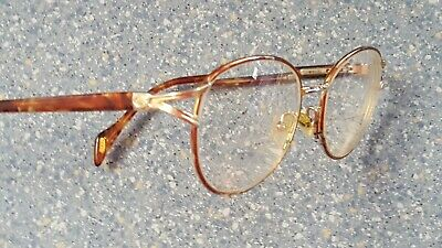Gucci Gold Tortoise Brown Vintage classic Designer Glasses Frames Made in Italy