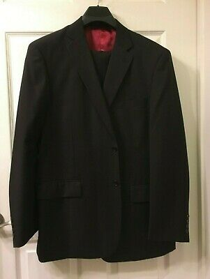 Men's Rr Orsini 2 Pc. Black Suit Single Breasted 2 Front Buttons See Size Below