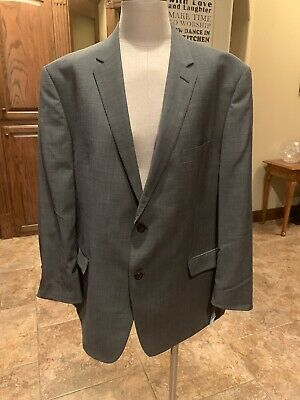 Austin Reed Mens Blazer Jacket Sports Coat Gray 48R FLAW NWT Retails $375 (96)