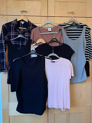 Bundle Of Nine Maternity Tops *topshop* *mamalicious* *new Look* Size 10-12