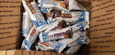 94 Assorted Pure Protein  Energy Protein Bars Lqqk!!! No Reserve