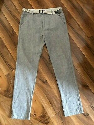 ZARA Boys Trousers with Belt, linen/cotton mix / Age 13-14 years Once!