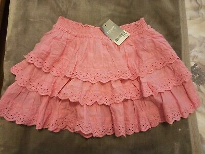 Next Girls Broderie Anglaise Tara Pink Summer Skirt Age 4 Years bnwt