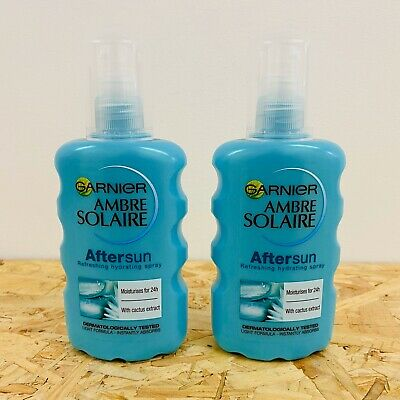 2 x Garnier Amber Solaire Aftersun Spray 200ML Holiday Twin Duo Pack - New