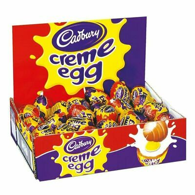 Full Box 48 x Cadbury Creme Egg Milk Chocolate Sweets Eggs Party Easter Egg Hunt