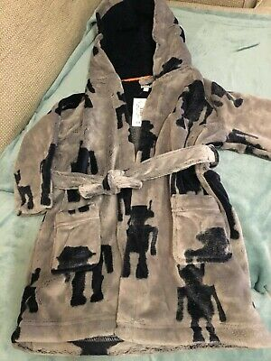 Brand new with tag Debenhams Blue Zoo boys grey dressing gown 2-3 yr old Rrp £16