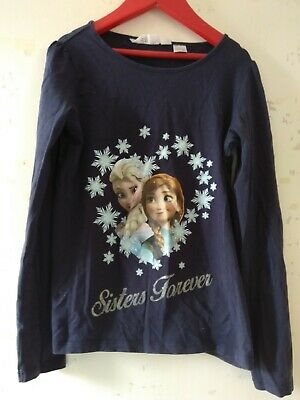 Girls Disney By H&M Long Sleeved T Shirt Sisters Forever Aged 8-10 Years