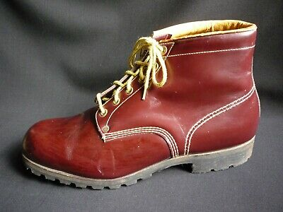 Vintage Uk 10 Mens Cherry Red Oxblood Hiking Work Boots Skinhead Hipster Monkey