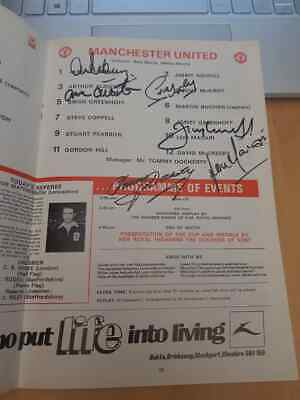 Multi Signed 1977 Fa Cup Final Programme Manchester United Winners