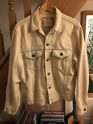 Levi's Vintage/Retro Denim Jacket White/Cream 60's/70's/90/s