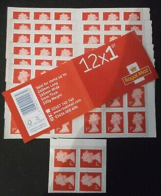 100 1st CLASS LETTER (FIRST CLASS) STAMPS AS PER PHOTOS  BOOKLETS